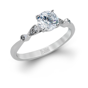 Zeghani 14k White Gold Engagement Ring 397