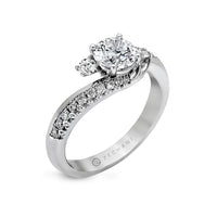 Zeghani 14k White Gold Engagement Ring 550