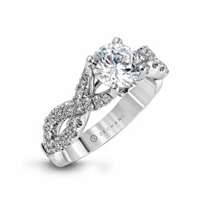 Zeghani 14k White Gold .50ct Engagement Ring 670