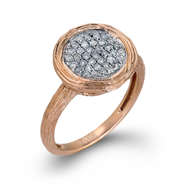 14k Rose Gold .28ct Diamond Right Hand Ring