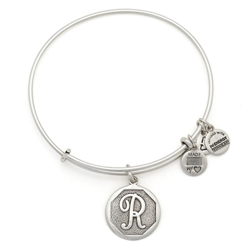 Silver Initial R Bangle