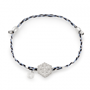 Precious Threads Sterling Silver Snowflake Cornflower Braid