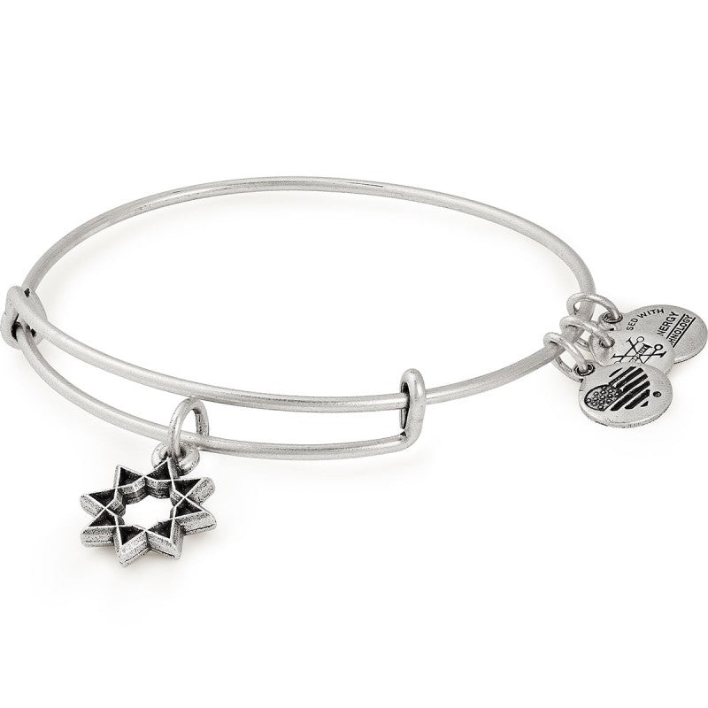 Silver Eight-Pointed Bangle