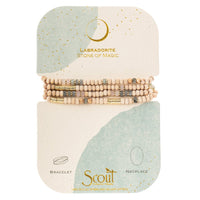 Scout Curated Wears Gold Labradorite Stone of Magic Wood, Stone, and Metal Wrap