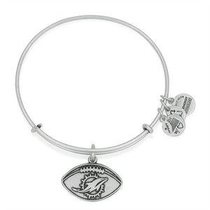Silver Miami Dolphin Football Bangle