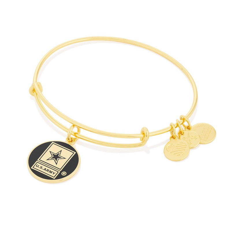 Gold US Army Bangle