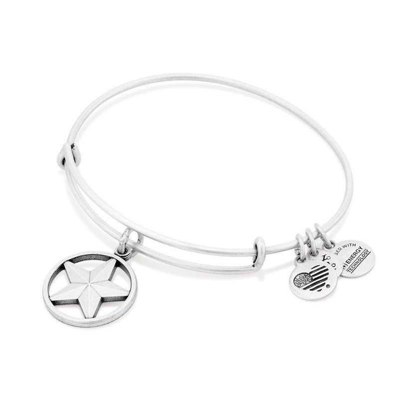 Silver Star of Strength Bangle