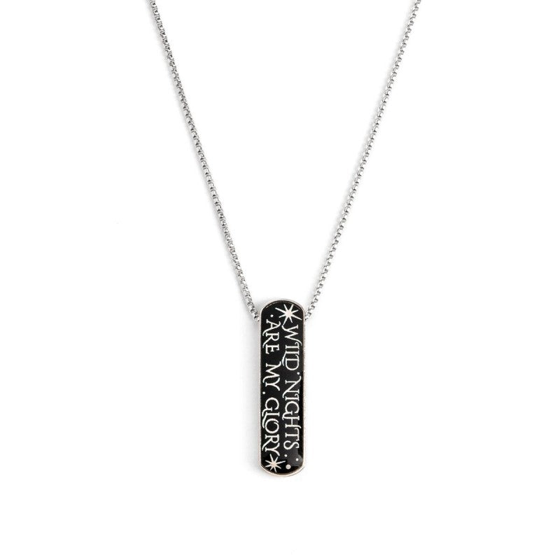 Disney® Sterling Silver Wild Nights Are My Glory Adjustable Necklace