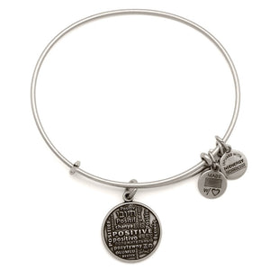 CBD Silver Joe Andruzzi Positive Bangle