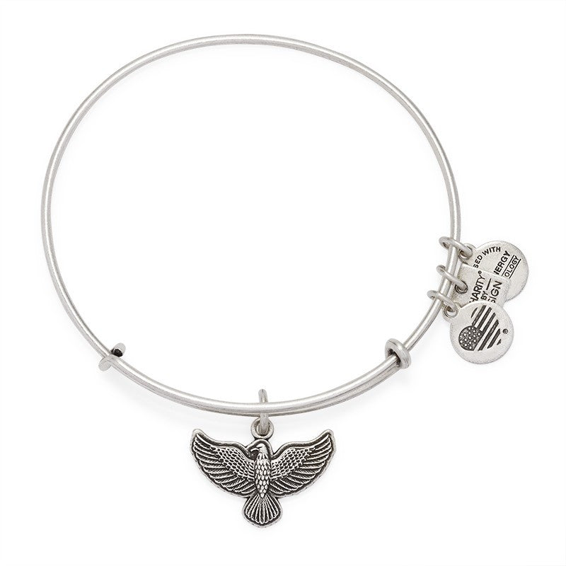 CBD Silver Spirit of the Eagle Bangle