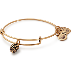 CBD Gold Pinecone Bangle