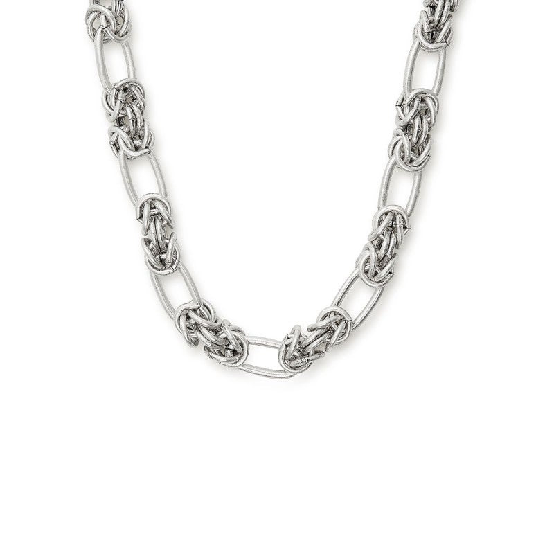 Silver Cobra Magnetic Necklace