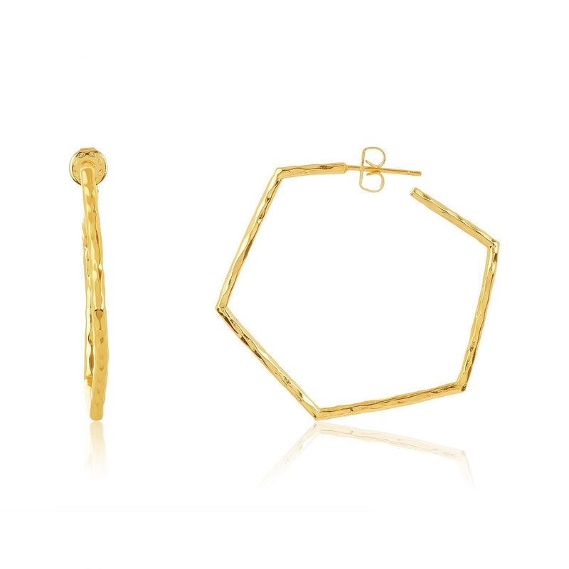 Melinda Maria Baby Hexagon Gold Hoop Earrings