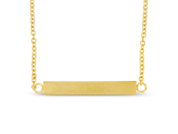 "Gold 18"" Bar Necklace"