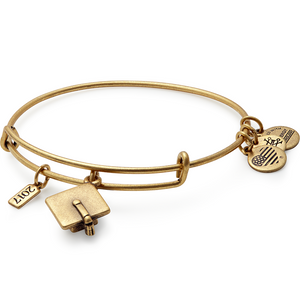 Gold Graduation Cap 2018 Bangle
