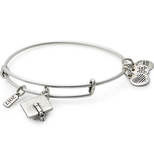 Silver Graduation Cap 2017 Bangle