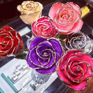 Pink 24k Gold Dipped Rose