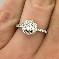 .50ct 14k White Gold Engagement Ring