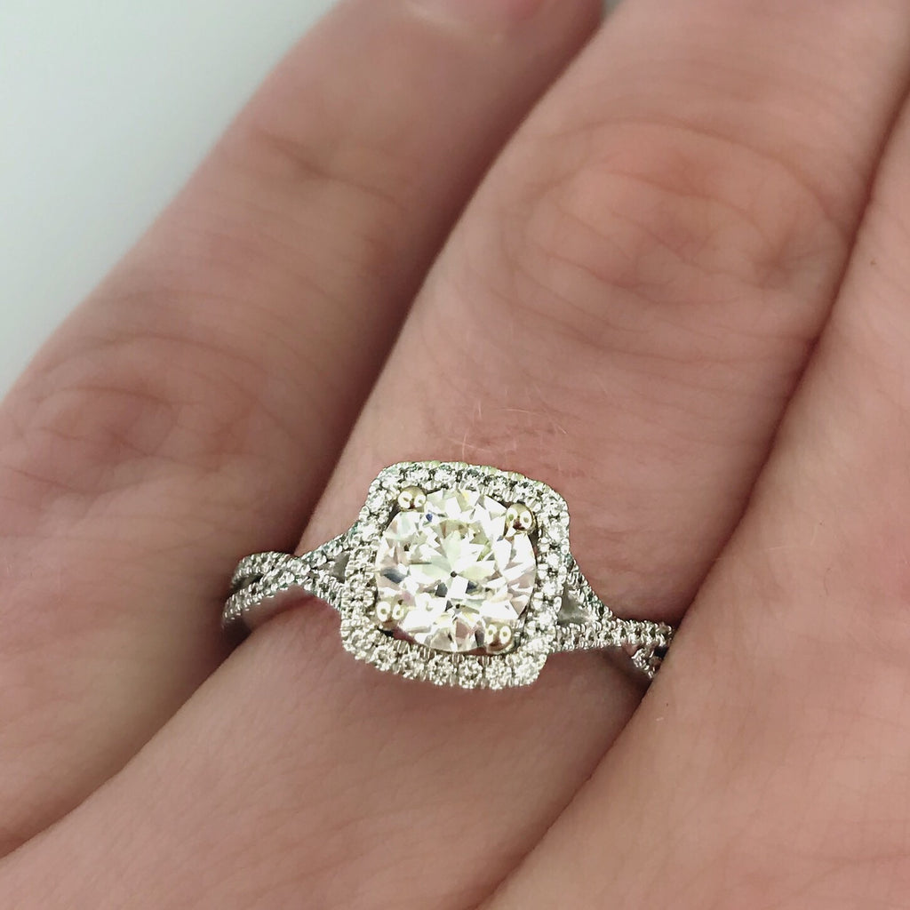 1.17ct 14k White Gold Engagement Ring