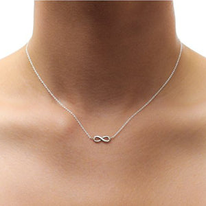 "Sterling Silver 16"" Infinite Love Necklace"