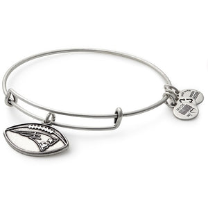 Silver New England Football Bangle
