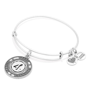 Silver Numerology Number Four Bangle