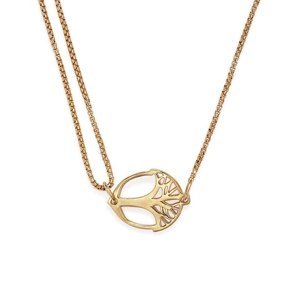 14k Gold Plated Unexpected Miracles Pull Chain Necklace