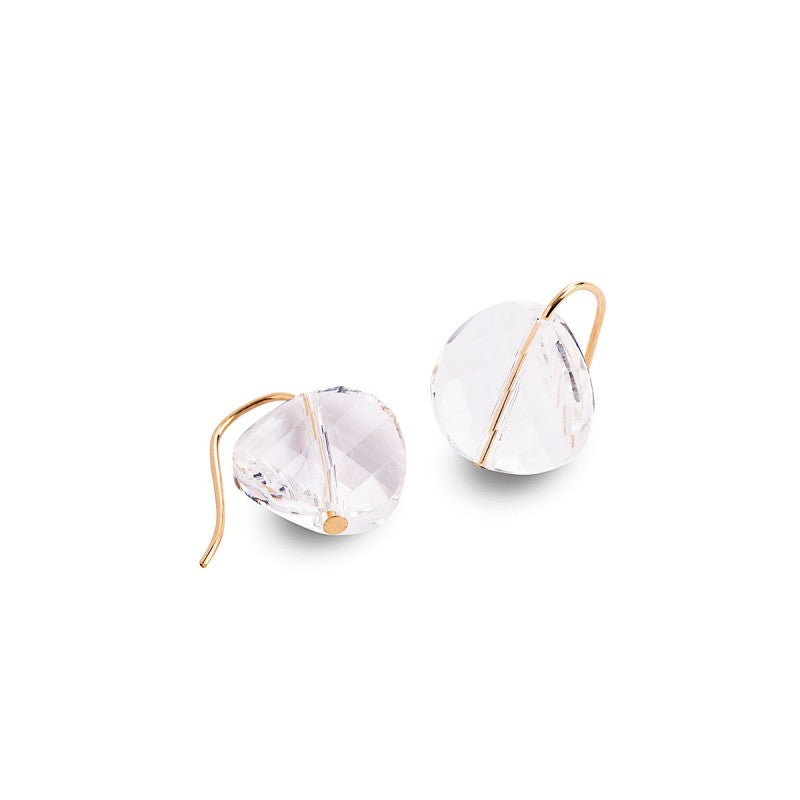 Gold Filled Round Swarovski Crystal Earrings
