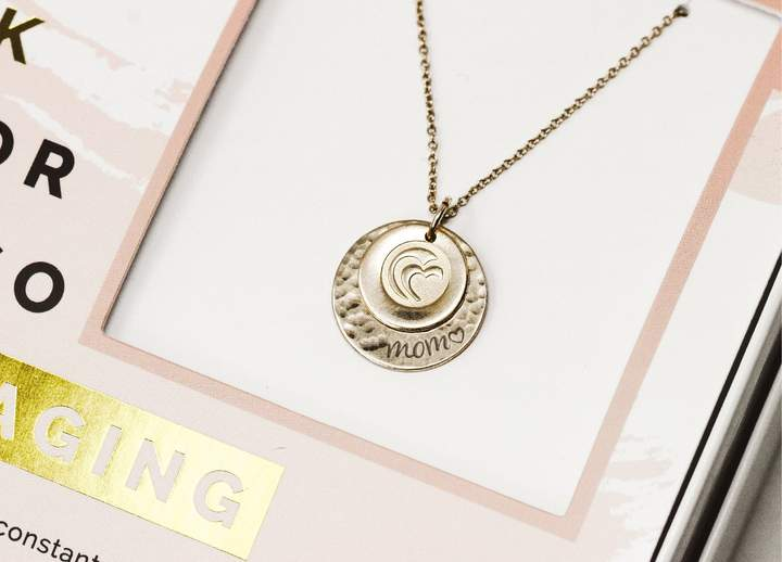 Gold Encouraging Mother's Day Necklace Gift Set