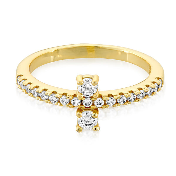 Margaret Gold CZ Ring