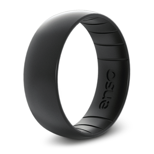 Classic Elements Black Pearl Silicone Ring