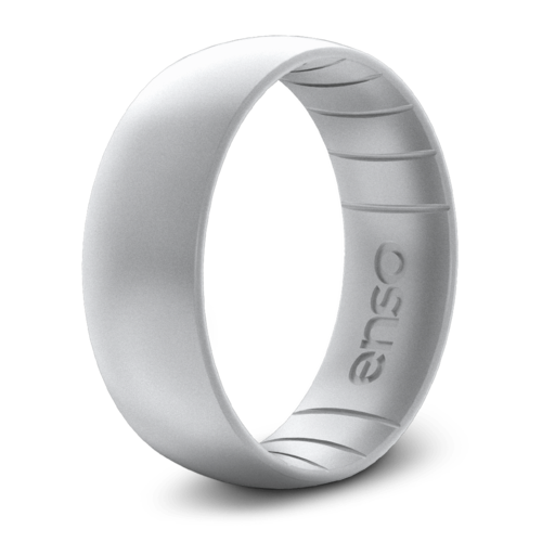 Classic Elements Silver Silicone Ring
