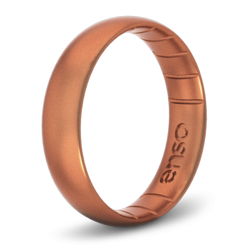 Classic Elements Copper Thin Silicone Ring