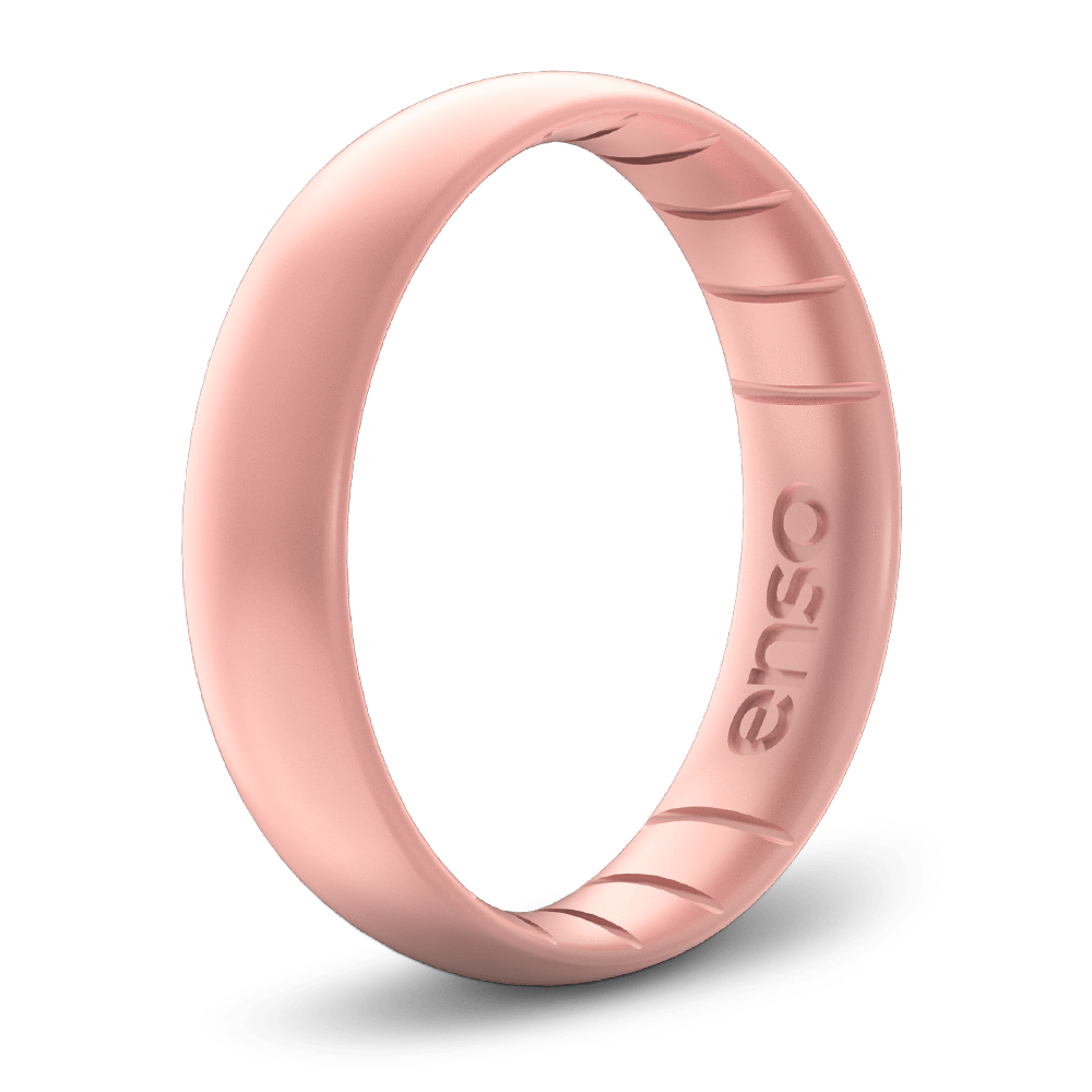 Classic Elements Rose Gold Thin Silicone Ring