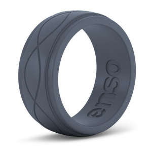 Men's Infinity Slate Silicone Ring