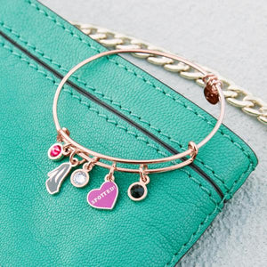 Alex and Ani Rose Gold Gossip Girl 'Spotted' Multi-Charm Bangle