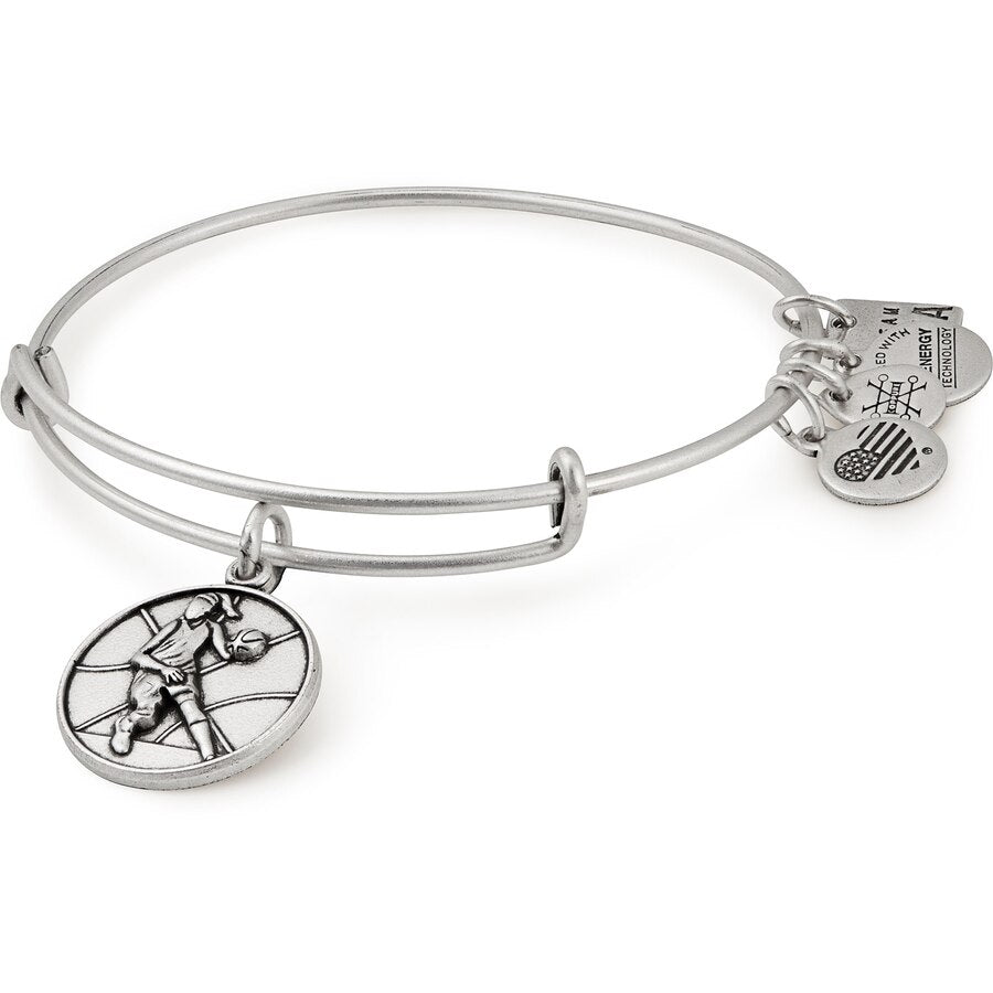 Silver Basketball II Bangle