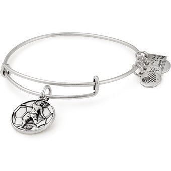 Silver Soccer II Bangle
