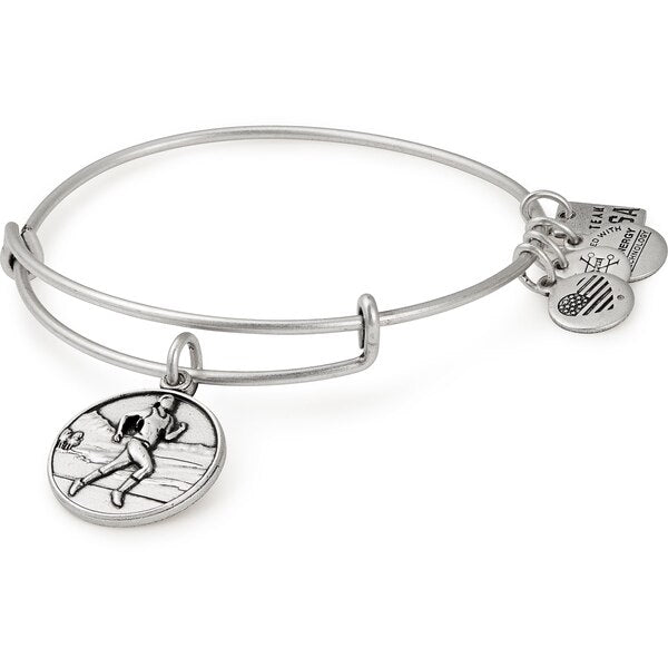 Silver Team USA Track and Field II Bangle