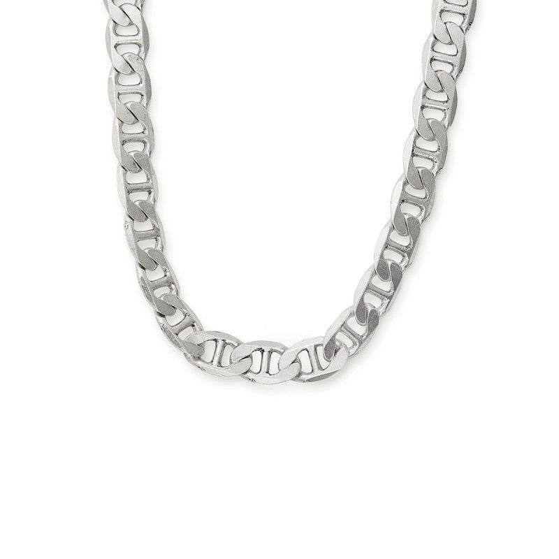 Silver Chain Link Magnetic Necklace