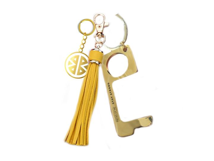 Don't Touch That! Women's Yellow Keychain