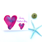 Instant Printable Mother's Day Heart watercolor Card: includes TWO designs! - Mika Harmony