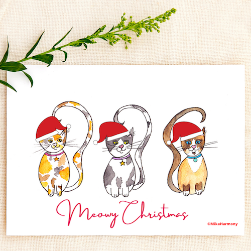 Santa Kitty Cat trio