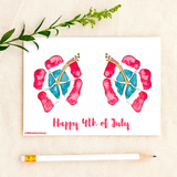 Instant Printable 4th of July Card. Red, White and Blue HIBISCUS! - Mika Harmony