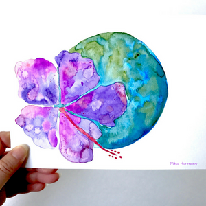 Hibiscus Planet Aloha from the Aloha Planets Series - Mika Harmony