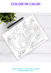 Calm Coloring Page Printable: Free for Everyone! Color your way to CALM - Mika Harmony