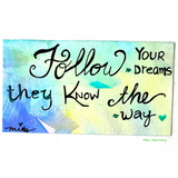 Hand Lettered Quote, Quote of your choice + Colors of your choice 4x6/5x7 size in watercolors