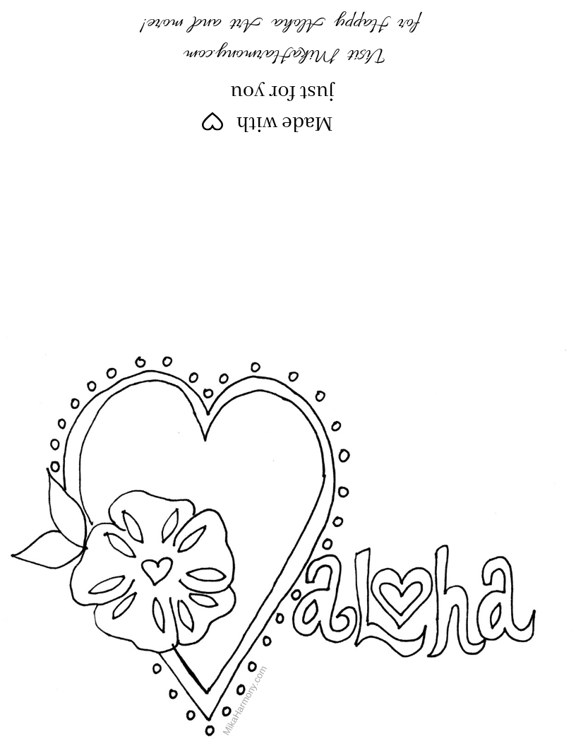 Love Valentine\'s Card Coloring Page Printable: Free for ...