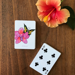 Watercolor Art Playing Cards: Butterfly and Orchid - Mika Harmony