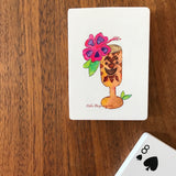 Watercolor Art Playing Cards: Tiki Hibiscus Cocktail - Mika Harmony
